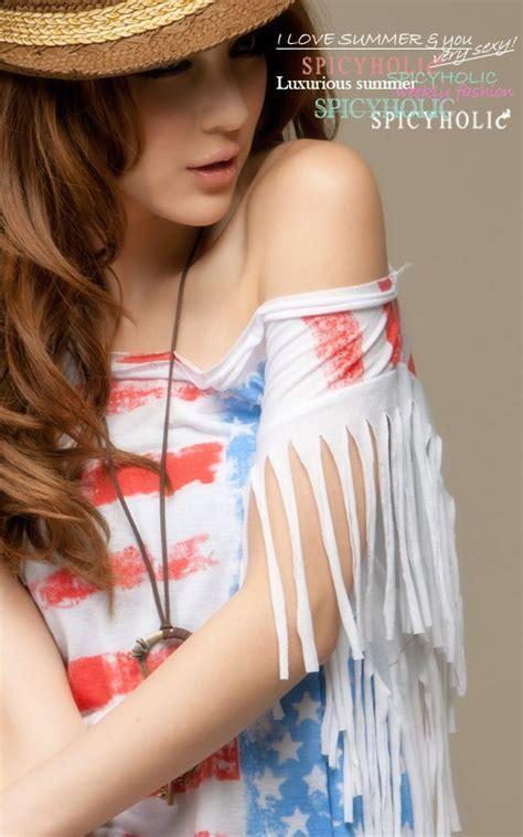 Dress Korea Stripe Import Casual tassel sleeve stripe tops t shirt ebay