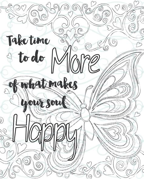 printable coloring pages inspirational adult inspirational coloring page printable 01 make your soul