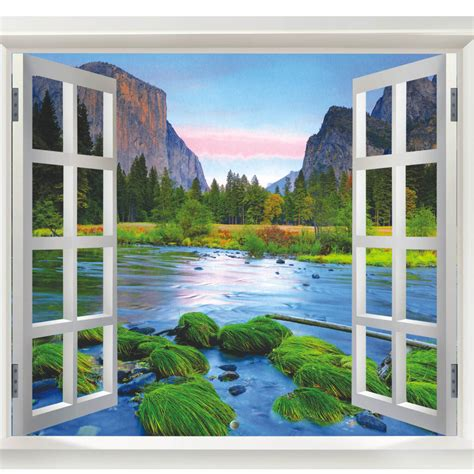 Home Decoration Paintings by Freeshipping New Arrival Wall Sticker Fake Window Wall