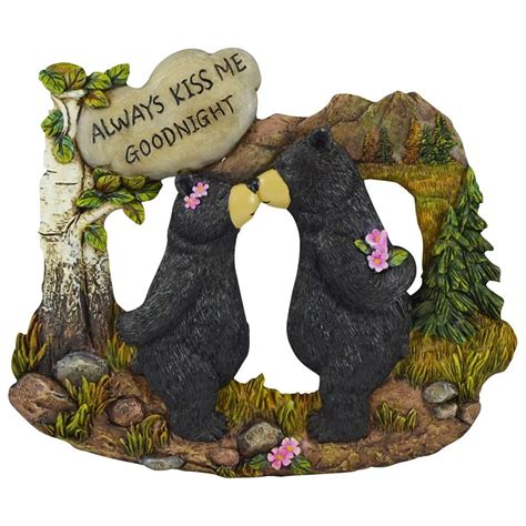 bear decorations for home pine ridge couple black bear with white stone inscribed