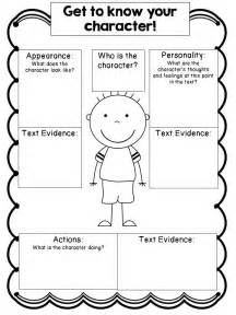 character outline template editable character study graphic organizers cc aligned