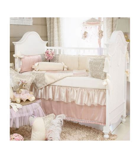 glenna jean crib bedding glenna jean love letters 4 piece crib bedding set