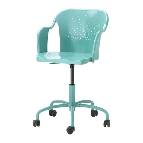 Ikea Computer Desk Chair Roberget Swivel Chair Turquoise Ikea