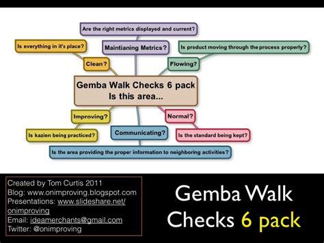 gemba walk template gemba walk checks 6 pack