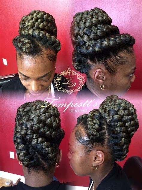 goddess braids pin up styles goddess braids updo ig getmanetamed goddess braids