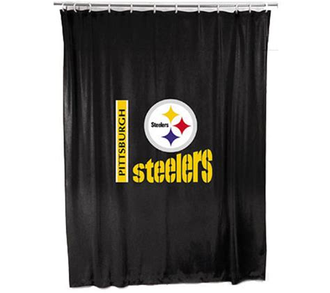steeler shower curtain nfl pittsburgh steelers shower curtain qvc com