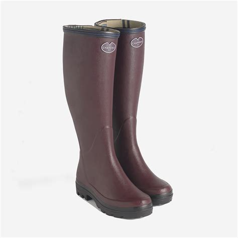 wellingtons boots le chameau giverny wellington boots in cherry the