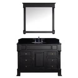 virtu 47 3 quot single bathroom vanity set with black