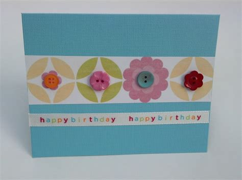 Handmade Cards With Buttons - handmade birthday geometric button greeting cards with
