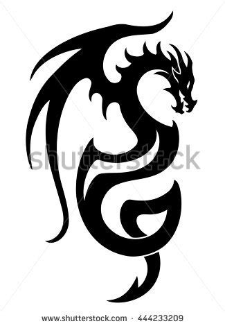 tattoo dragon logo vector illustration dragon tattoo design black vectores en