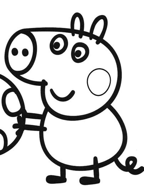 peppa pig george coloring page le peppa pig coloring pages