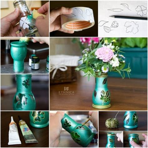 how to make beautiful flower vases with baby food jars