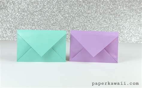 Envelop Origami - simple origami envelope tutorial paper kawaii