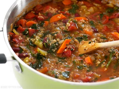 calories in garden vegetable soup quinoa vegetable soup