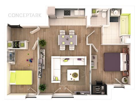 2 bedroom house plans 3d view ideas design a house