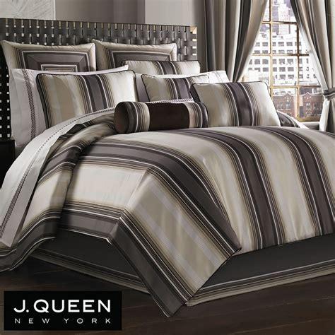 j queen bedding bennington striped comforter bedding by j queen new york