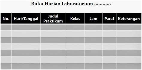 Format Buku Harian Laboratorium   pengelolaan laboratorium administrasi laboratorium