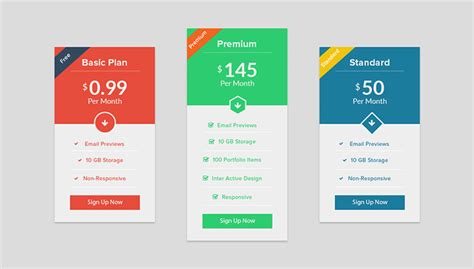 Tabel Design by 25 Creative Pricing Table Designs For Inspiration