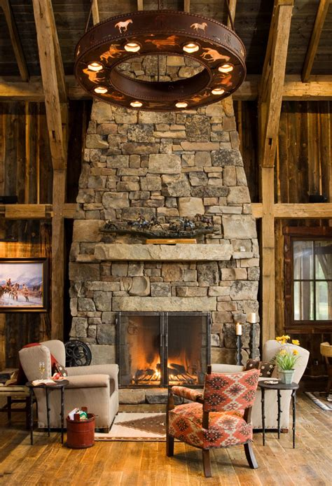rustic fireplace stone fireplaces the cozy warm and stylish element founterior