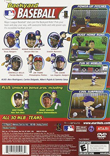 backyard baseball playstation 2 apparel accessories