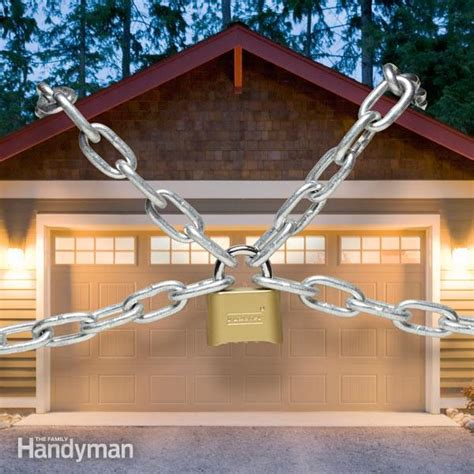 How To Secure Your Garage Door by Garage Security Tips The Family Handyman