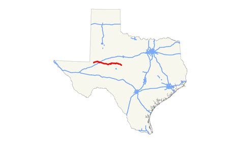 highway map of texas state texas state highway 158