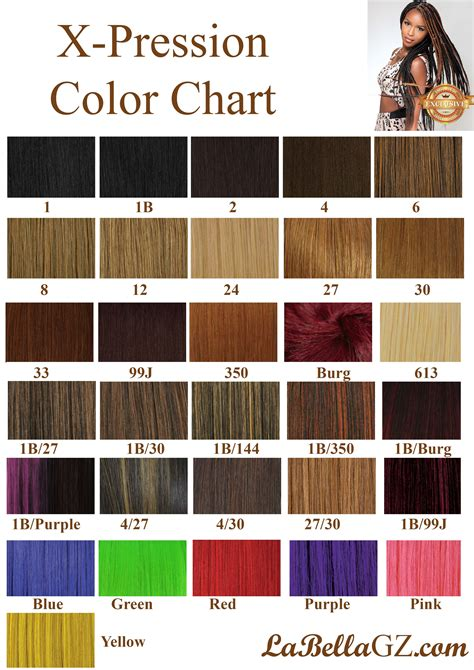 xpression braiding hair color chart braid color chart braid color chart hairstylegalleries