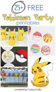 25 free pokemon party printables cutesy crafts