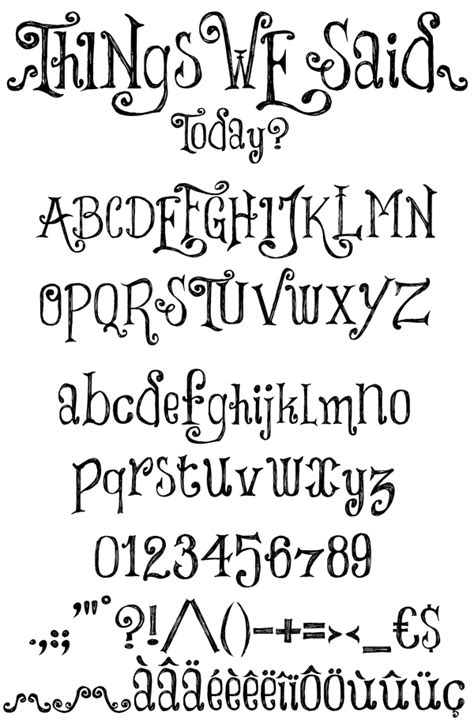 Drawing Fonts by Fonts Calligraphy Lettering On