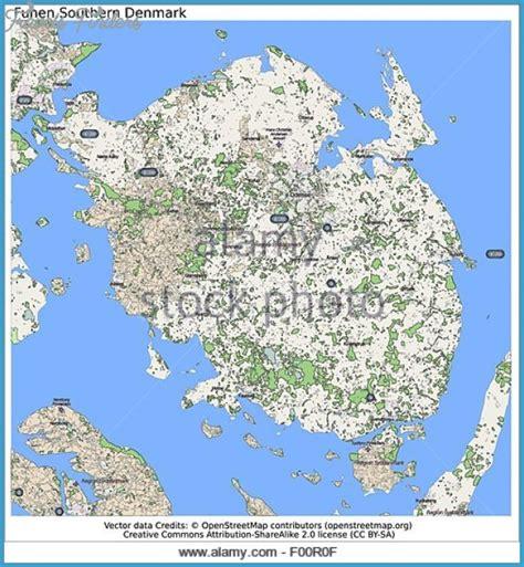 funen denmark funen fyn denmark map travelsfinders