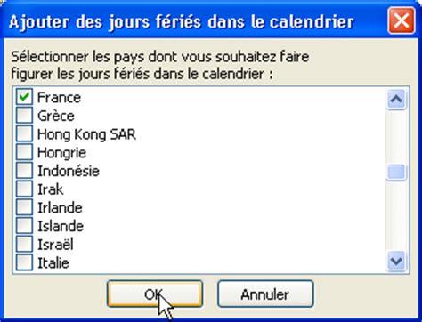 Calendrier 3 Fois Par Jour Outlook Ajouter Les Jours F 233 Ri 233 S
