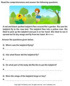 Reading comprehension stories worksheet 29 turtle diary