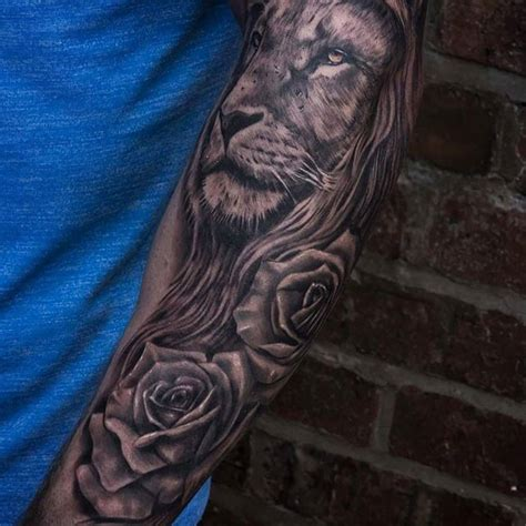 rose and lion tattoo get social this mortal coil gallery