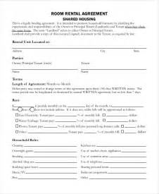 rental agreement form 9 free sample example format