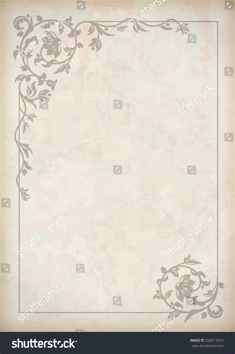 old paper pattern vector vector vintage border frame grunge textured stock vector