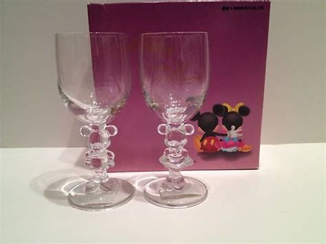 Disneyset Minnie Glasses B 080563 Collectible Vintage Mickey And Minnie Mouse Disney