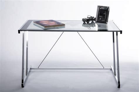 scrivanie in vetro e acciaio scrivania rettangolare in acciaio e vetro mondo by kare design