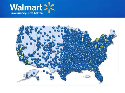 walmart locations map walmart analysis