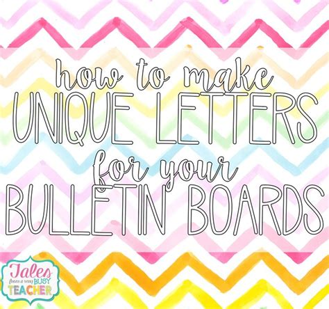 Bulletin Board With Letters