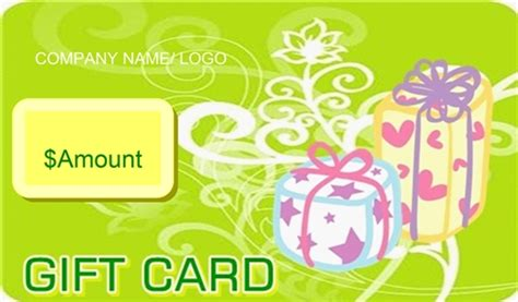 Green Gift Cards - green swirl gift certificate