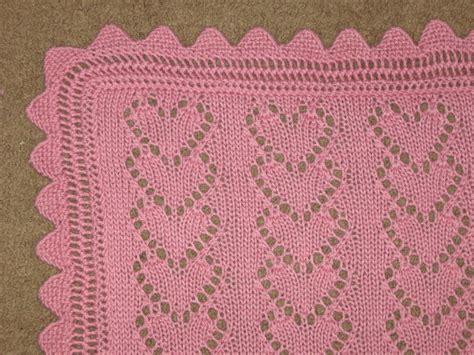 lace heart pattern knitting lace heart chains baby blanket knitting pattern pdf digital