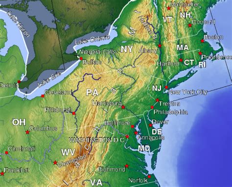 topo map eastern us course outline