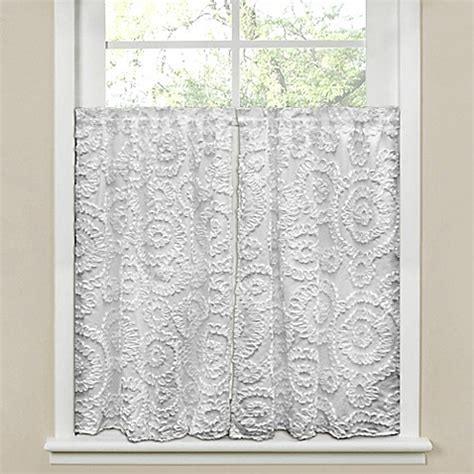 64 Inch Curtains Buy Lush D 233 Cor Keila 64 Inch X 45 Inch Window Curtain In White From Bed Bath Beyond