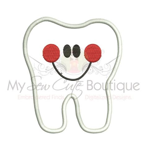 free embroidery applique tooth applique machine embroidery design patterns