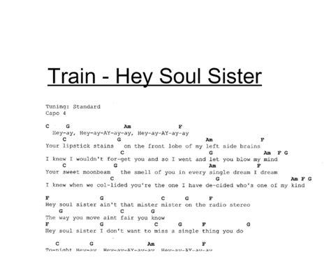 Hey Soul Sister Chords