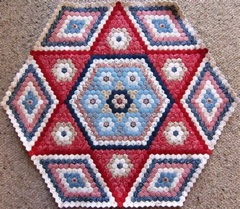 Hexagon Shapes For Patchwork - 7 best my hexagon quilts images on crafts
