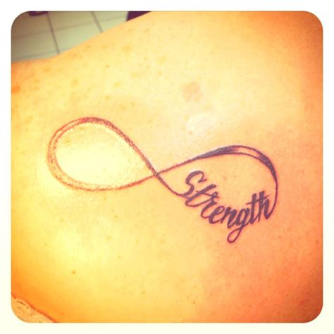 strength infinity tattoo strength infinity tattoos