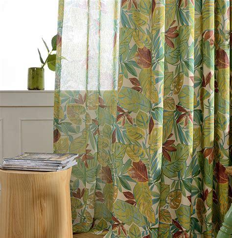 rainforest curtains rainforest polyester cotton curtains for kitchen pastoral