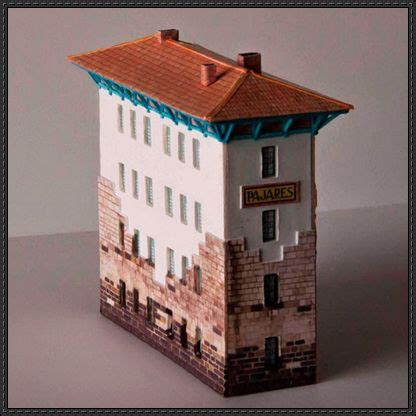 Building Papercraft - paper models station and trains on