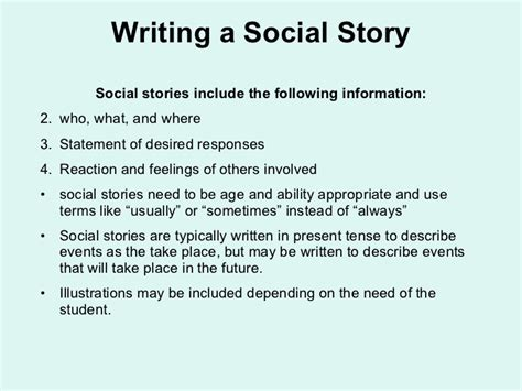 social story templates free autism powerpoint